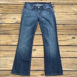 7 For All Mankind   Dark Wash Bootcut Jean Size 27